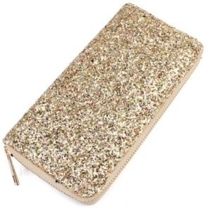 🔥FINAL SALE! Gold Glitter Wallet